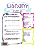 Library Lesson Plans K-5 Week 13