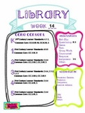 Library Lesson Plans K-5 Week 14