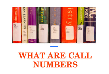 Library Lesson Presentation: What Are Call Numbers? EDITABLE