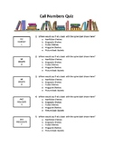 Library Lesson Quiz: Understanding Call Numbers EDITABLE