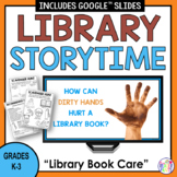 Library Lessons Book Care | Storytime | Distance Learning