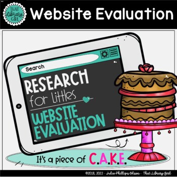 Website Evaluation - Library Lesson - Research for Littles