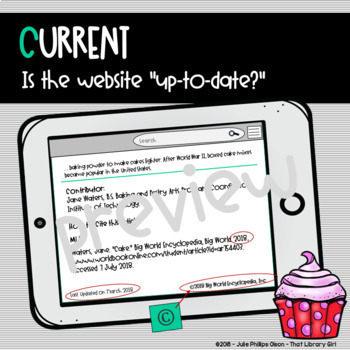 Website Evaluation Library Lesson Research
