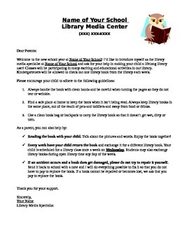 Library Letter to Parents