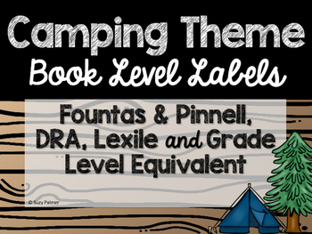 Camping Theme Classroom Decor: Library Level Labels