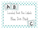 Library Leveled Labels Blue and White Dot