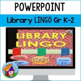 Library Lingo PowerPoint Game Gr K-2 -- Distance Learning
