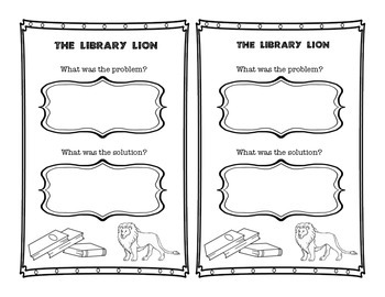 Library Lion Activity Sheet