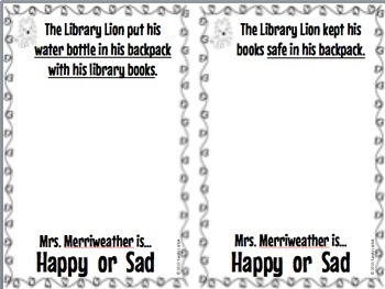 Library Lion Class Book