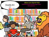 Library Lion Clip Art Pack