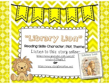 Library Lion Picture Book - Character, Plot, Theme