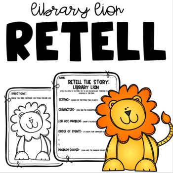 Library Lion-  read aloud print-and-go retelling!