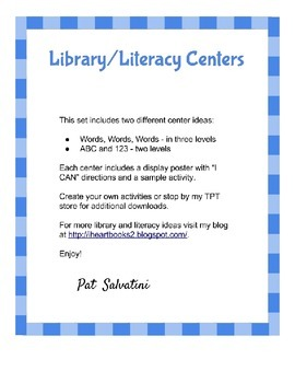 Library-Literacy Centers