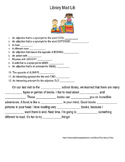Library Mad Lib: Practcing Parts of Speech