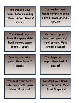 Library Manners Board Game