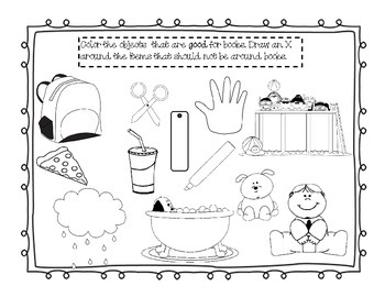 Library Manners Coloring Pages