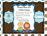 Printable Library Manners Book Care Worksheets