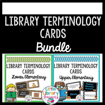 Library Terminology Cards BUNDLE
