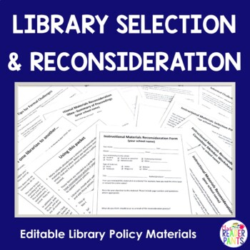 Library Materials Reconsideration Documents