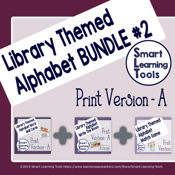 Library Media Center Alphabet Bundle 2- Print Version A