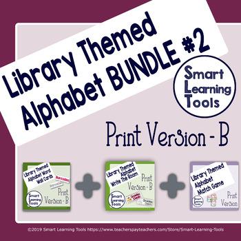 Library Media Center Alphabet Bundle 2- Print Version B