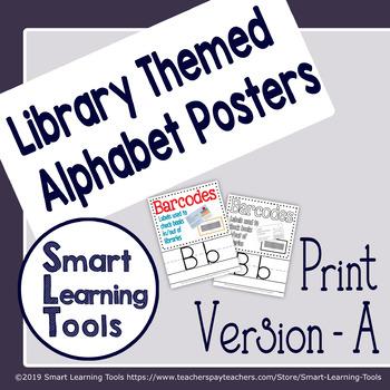 Library Media Center Alphabet Posters - Print Version