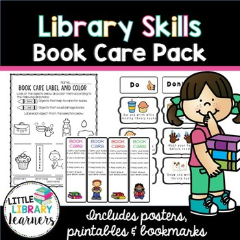 Library Skills- Book Care Activity Pack