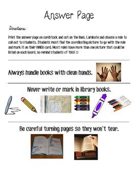 Library Media Center - Book Care Bingo