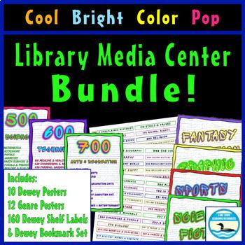 Library Media Center Bundle, Cool Bright Color Pop Ed.