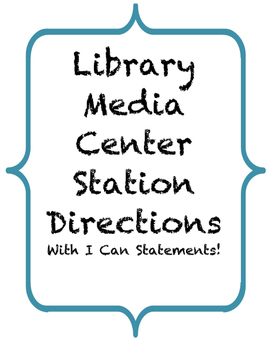 Library Media Center Center Directions 2.0