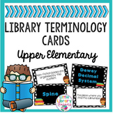 Library Definition Matching Cards- Upper Elementary