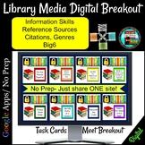 Library Media Center Digital Breakout- Dewey Decimal, Reference, Genres, Big6