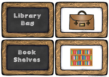 Library Terminology Cards- Lower Elementary