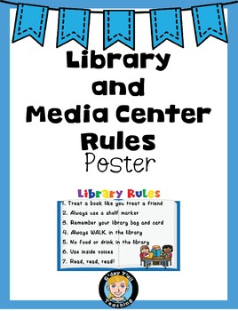 Library/ Media Center Rules Poster Freebie!