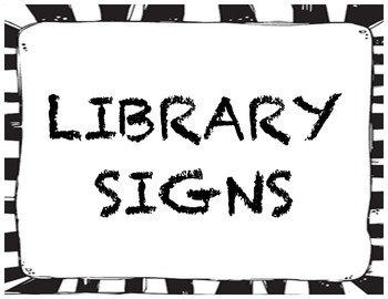 Library Media Center Signs