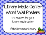 Library Media Center Word Wall - 175 Posters in Polka Dots