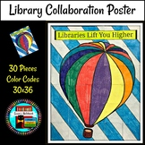 Library Media Collaboration Poster Hot Air Balloon