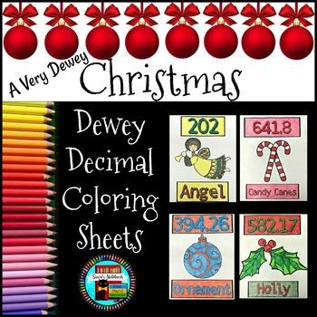 Dewey Decimal Christmas Coloring Pages