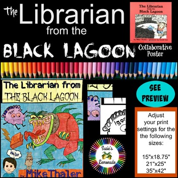Library Media Librarian from Black Lagoon Collaboration Poster