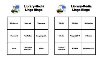 Library-Media Lingo Bingo