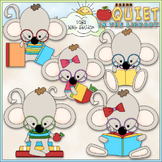 Library Mouse Clip Art - Reading Clip Art - Library Clip A