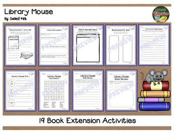 Library Mouse by Kirk 19 Book Extension Activities NO PREP