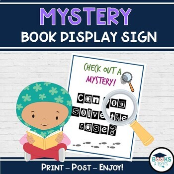 Library Mystery Display sign