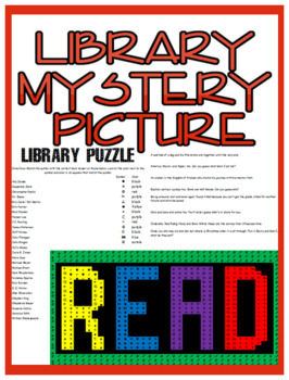 Library Mystery Picture With Author & Book Question Matching