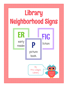 Library Neighborhood Signs