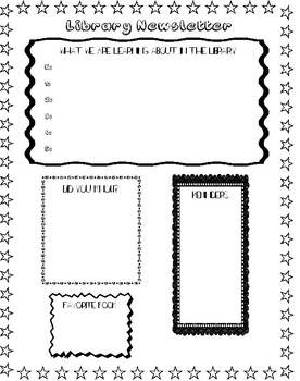 Library Newsletter and Letterhead