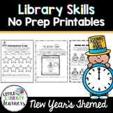 Library No Prep Printables- New Year's Themed