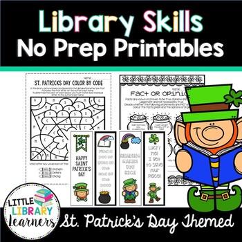 Library No Prep Printables- St. Patrick's Day Themed