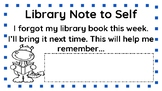 Library Note to Self