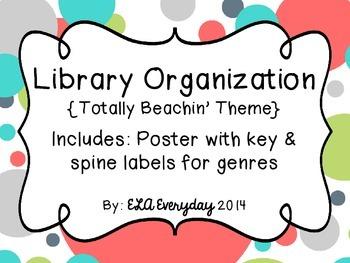 Library Organization- Totally Beachin'